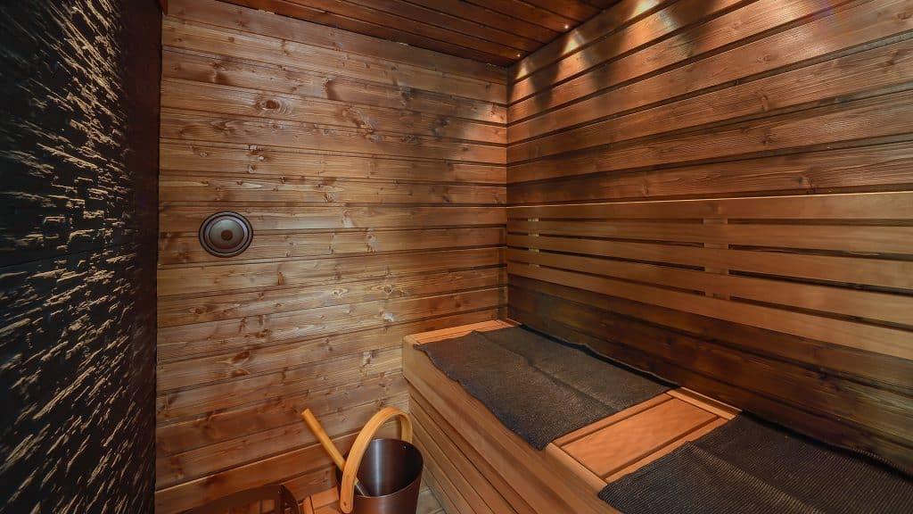 SAAGA-mökin sauna on elämyksellinen