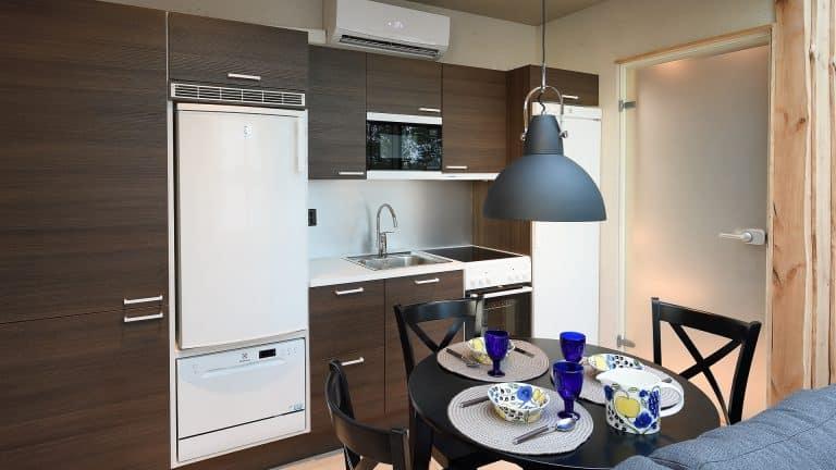 SAAGA-elämysmökki pitää sisällään täydellisen keittiön